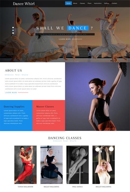 dancing school html5 theme