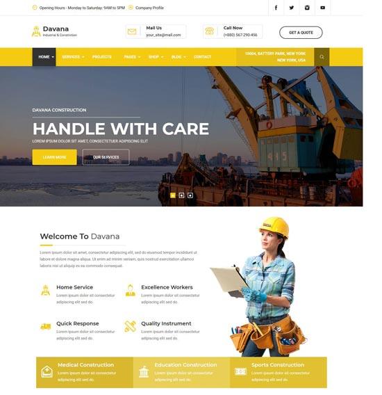 davana industrial html template
