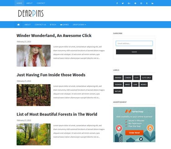 dearpins-free-responsive-blogger-template