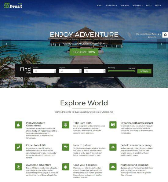 deasil travel booking wordpress theme