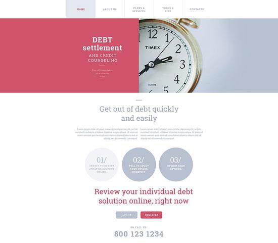 debt-settlement-website-template