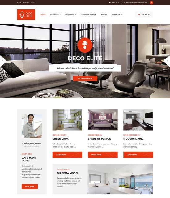 deco elite interior design theme