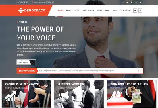 democracy html5 css3 template