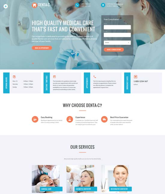 dentac-dental-center-website-template