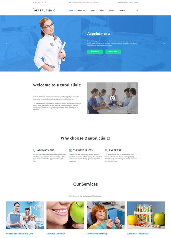 dental clinic dentistry responsive joomla template