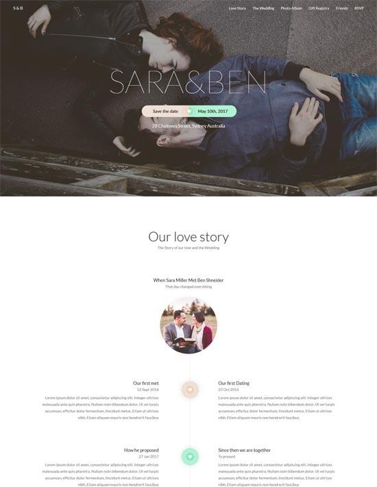 destiny wedding html template