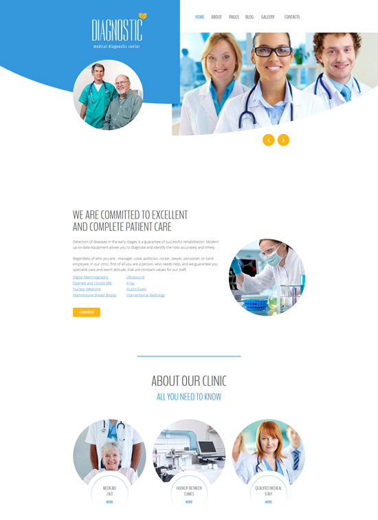 diagnostic medical diagnostic center joomla template