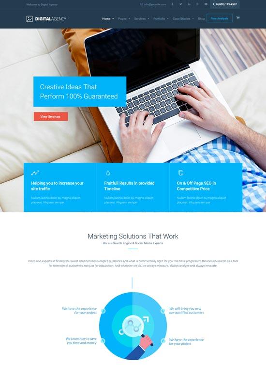 digital agency web design company theme