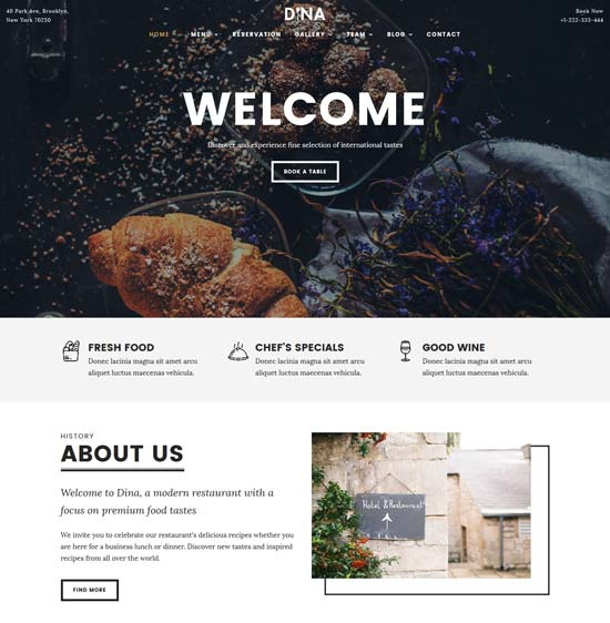 dina-restaurant-food-html-template