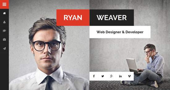 divergent personal vcard html template