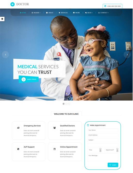 doctor medical health wordpress theme