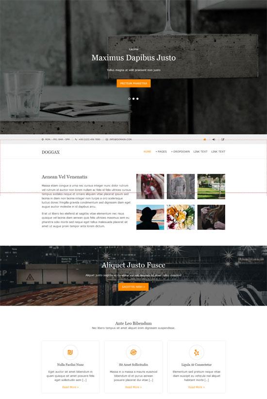 doggax dark color html5 template