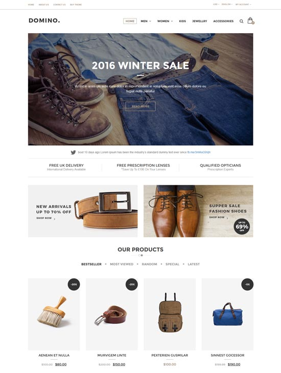 domino fashion opencart theme