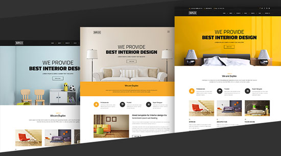 duplex interior design html5 template