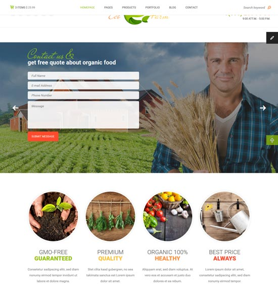 eco farm html template