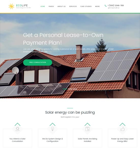 eco life environment WordPress theme