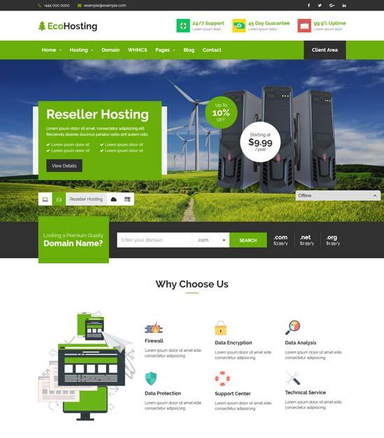 70 Best Hosting Wordpress Themes Free Premium Freshdesignweb