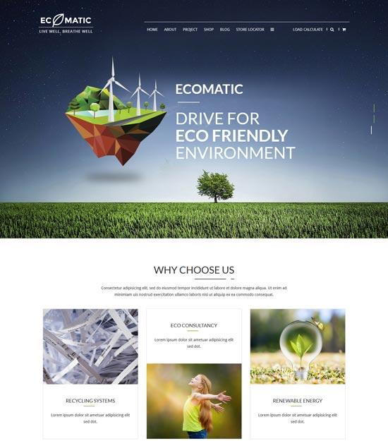 ecomatic wordpress eco theme