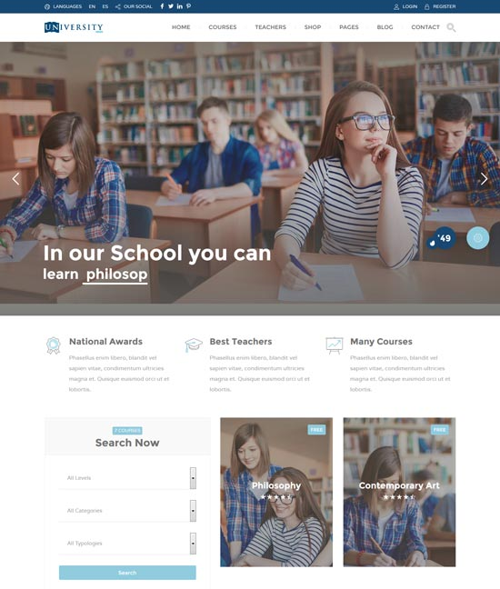 education pack learning theme wp