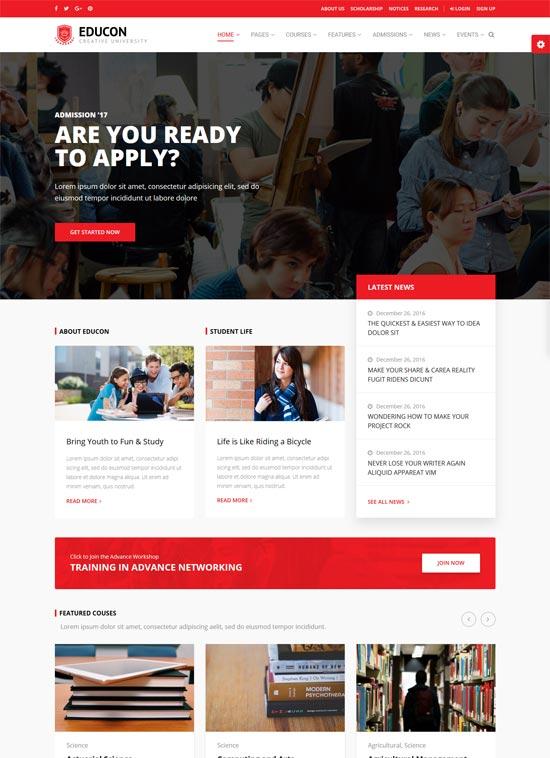 educon education wordpress theme