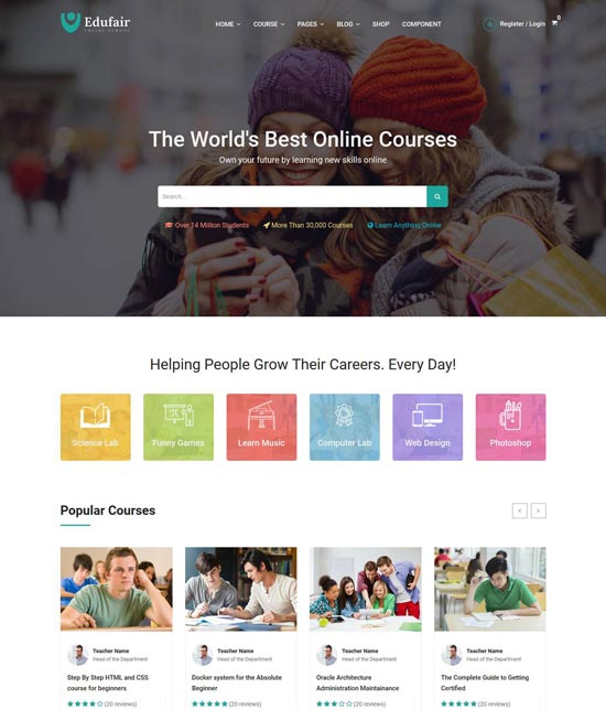 edufair education html template