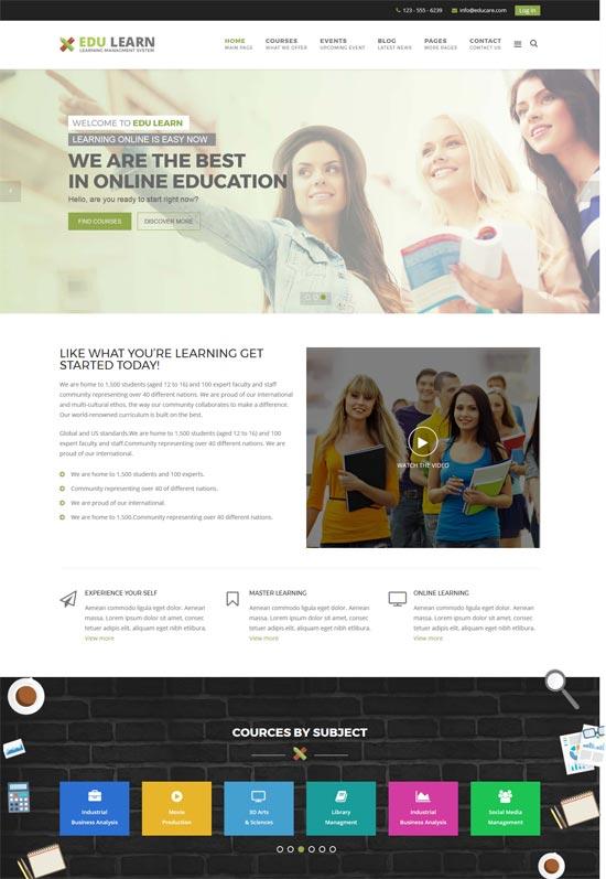edulearn education school joomla template