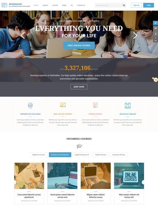 eduonline education university joomla template