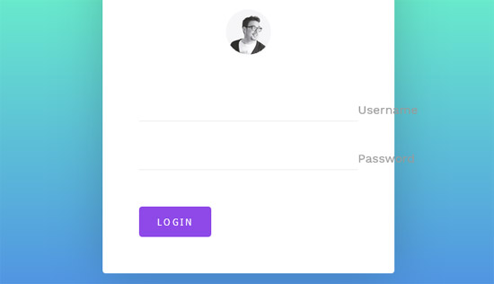 elastic login form