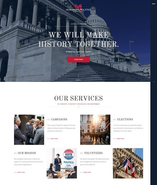 elections political WordPress theme