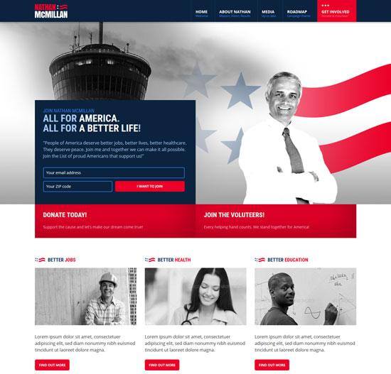 electoral political non-profit html template