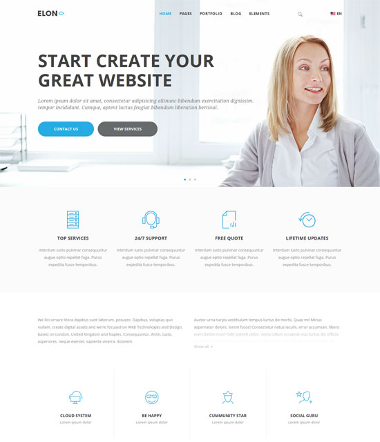 elon businesses agencies template