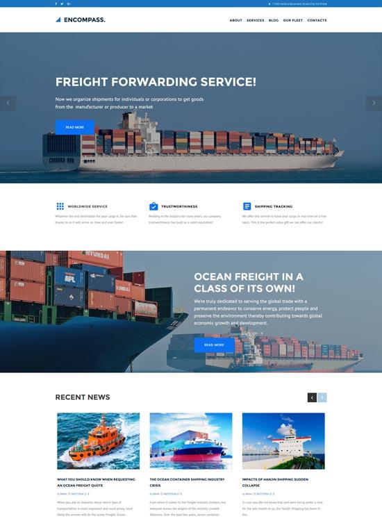 encompass transportation maritime wordpress theme