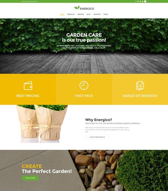 energico wordpress agriculture garden theme