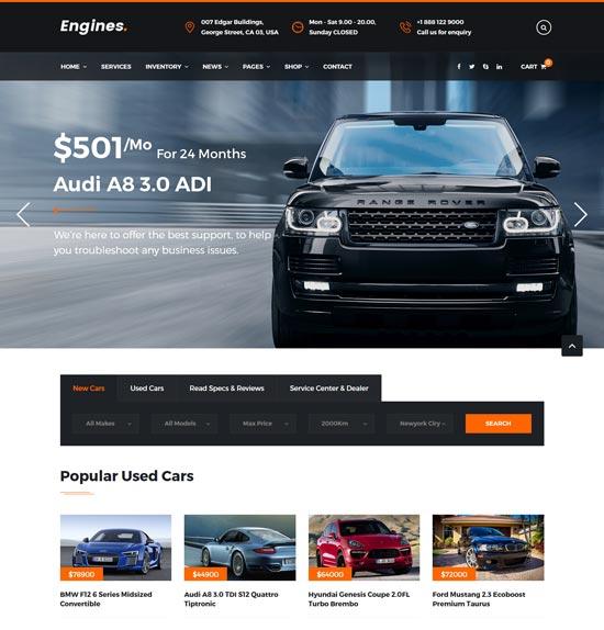 engines automotive site template