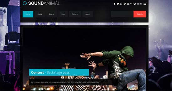 Sound animal - entertainment html template free