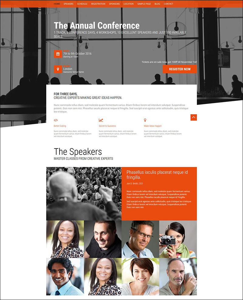 Event - Conference & Event WordPress Theme