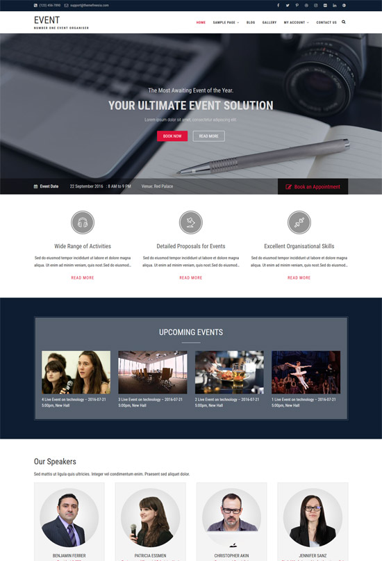event free wordpress event theme