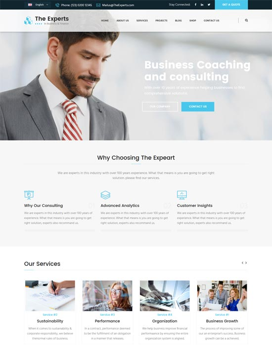 experts consulting services html template