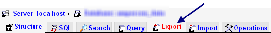 export-database