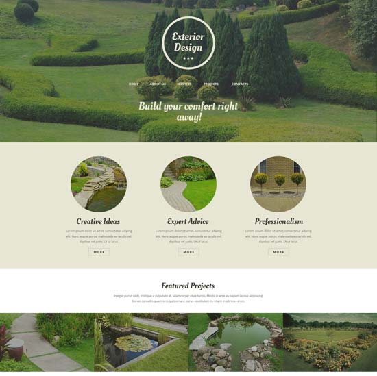 exterior design website template 50986