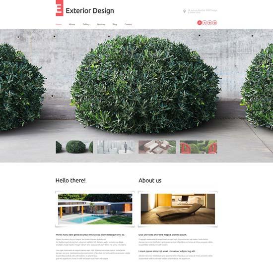 exterior design WordPress theme 53598