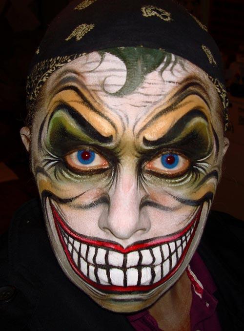 6 joker face painting