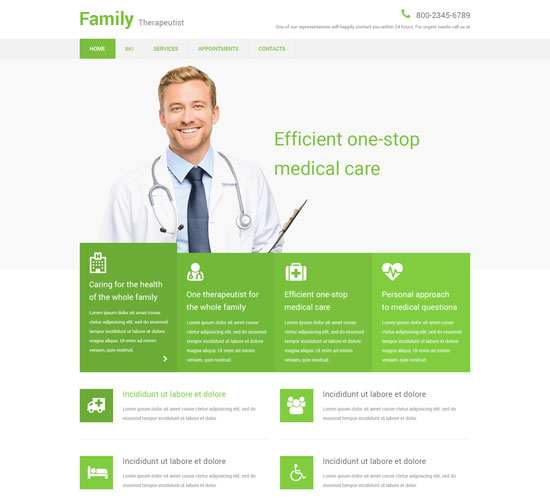 family therapeutist website template