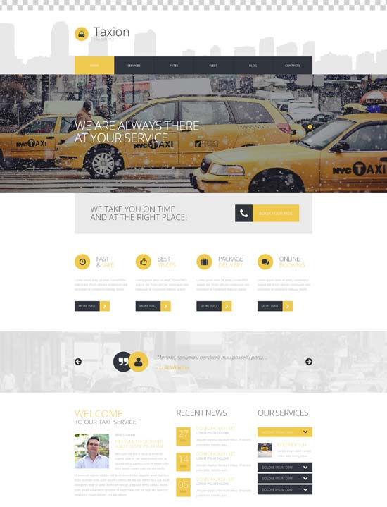 fast furious cabs wordpress theme