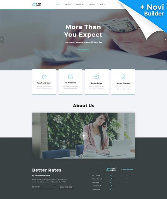 fastcredit mortgage website template