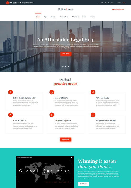 feni law firm responsive website template