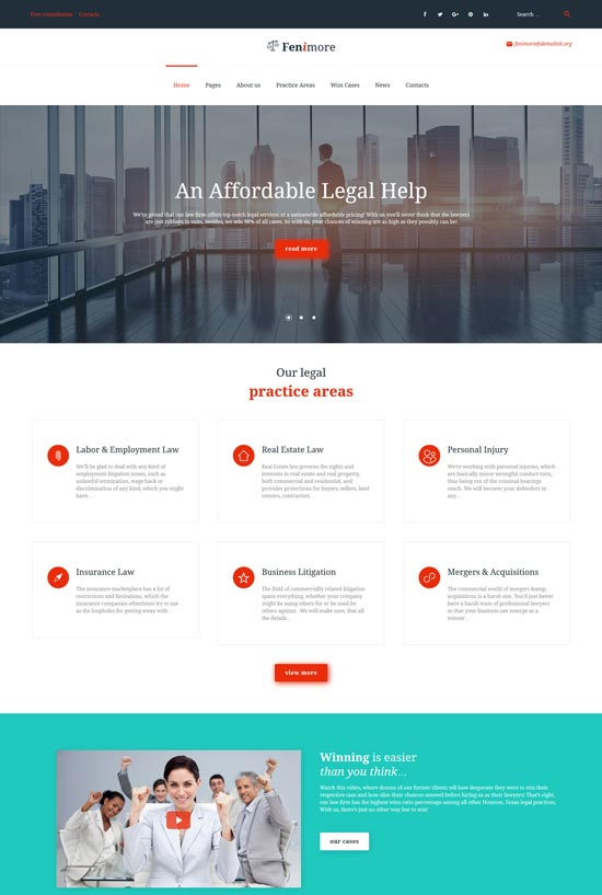 fenimore law firm WordPress theme