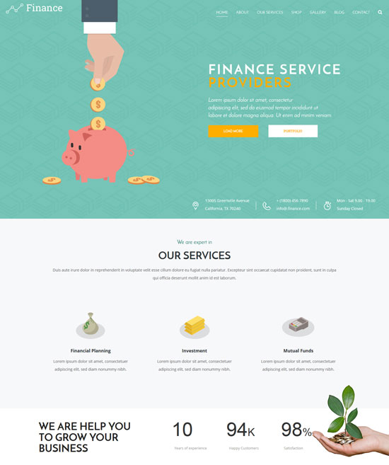 finance consulting html5 template