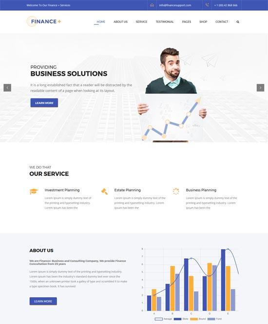 finance corporate business wordpress theme
