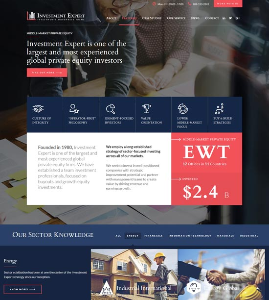 financial consultancy investment html template